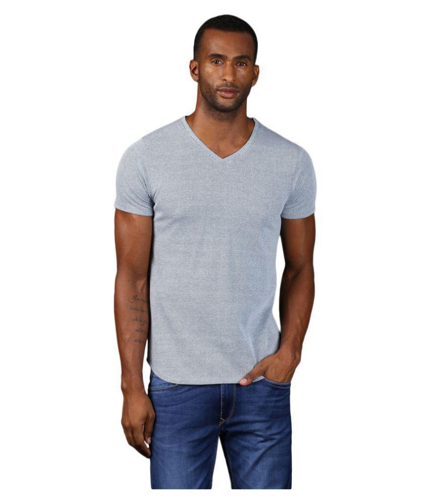 MKH Blue V-Neck T-Shirt