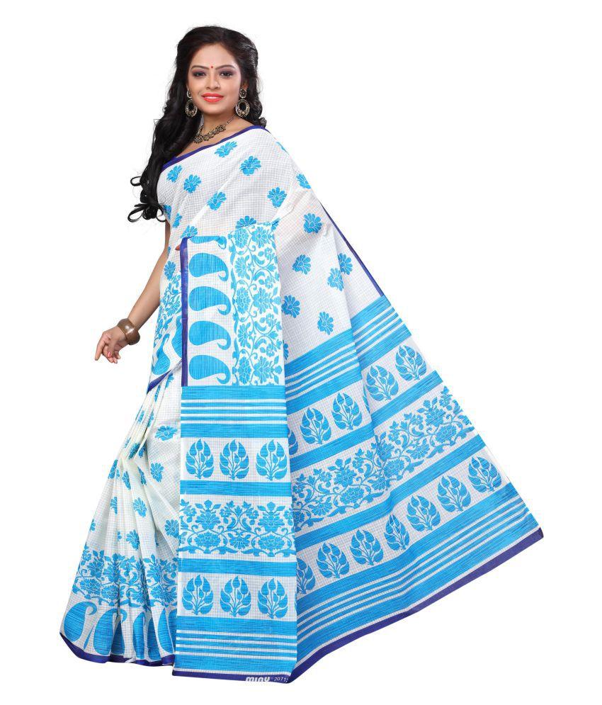 Swanvi Multicoloured Cotton Saree