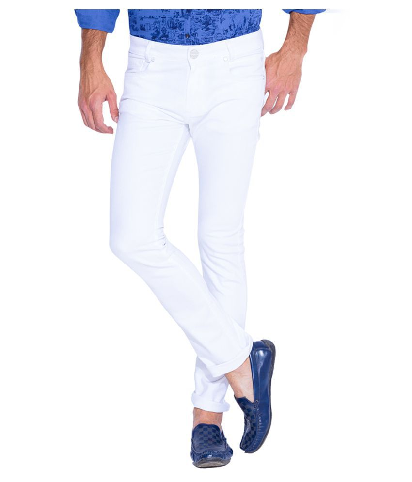 Mufti White Straight Jeans