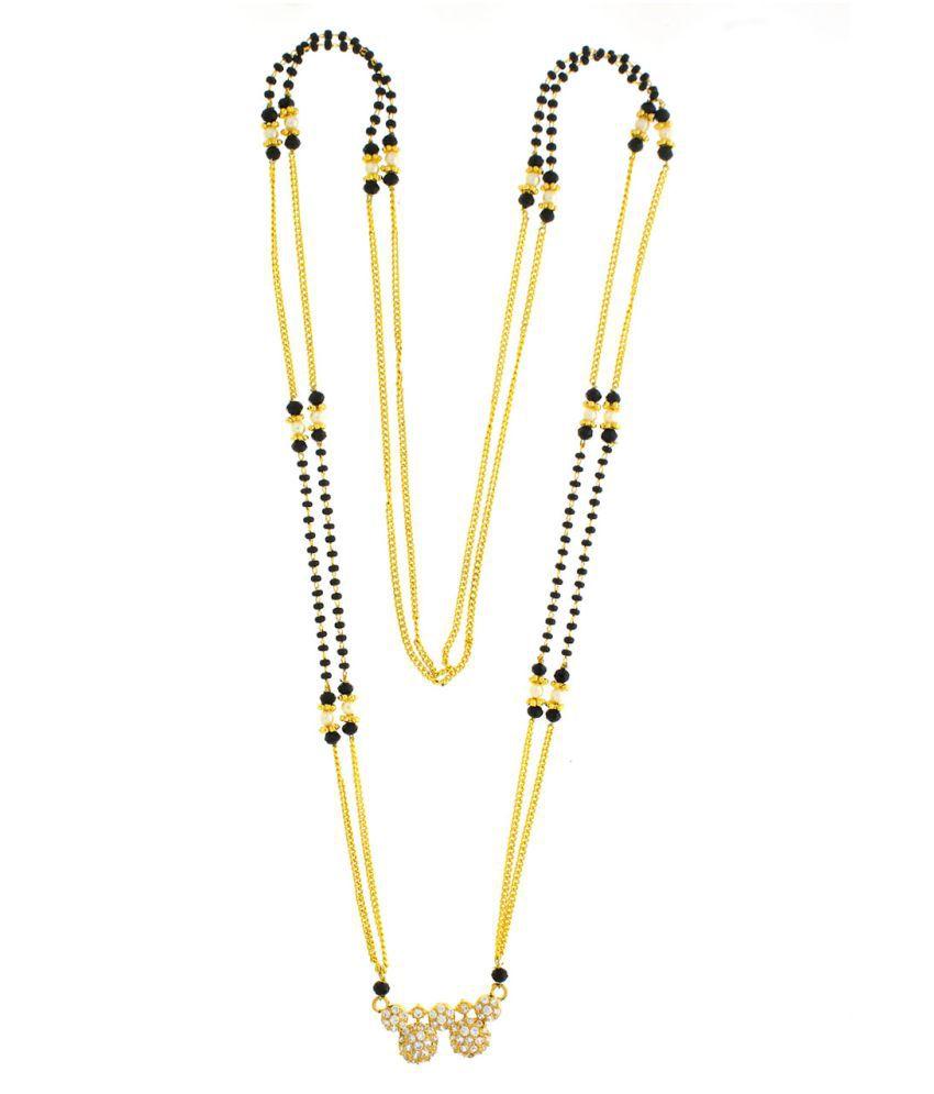 Anuradha Art Golden Finish Classy Stylish Waati Styled Mangalsutra Set For Women