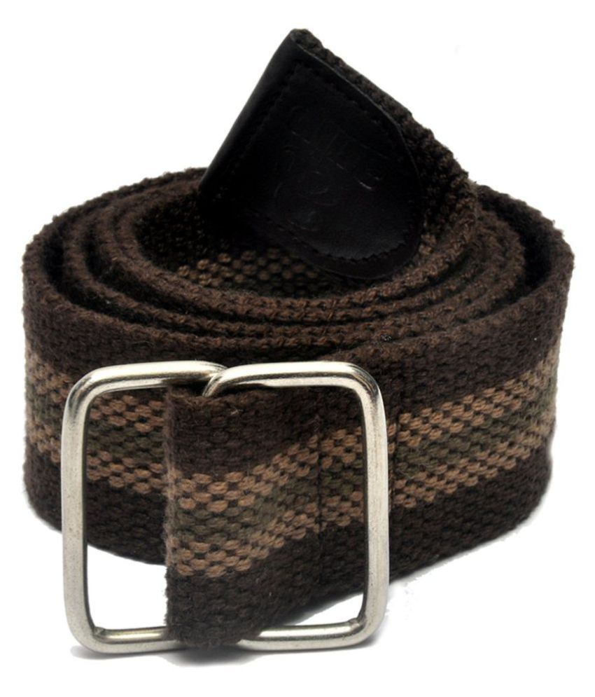 Arip Brown Canvas Casual Belts