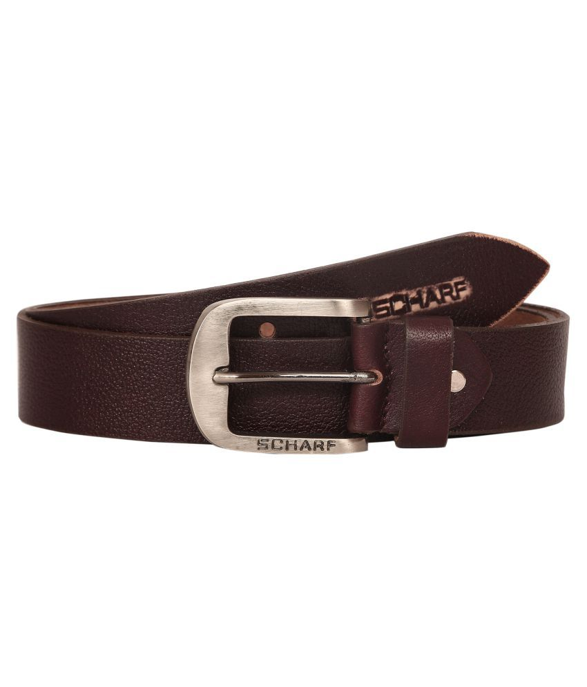 Scharf Brown Leather Casual Belts