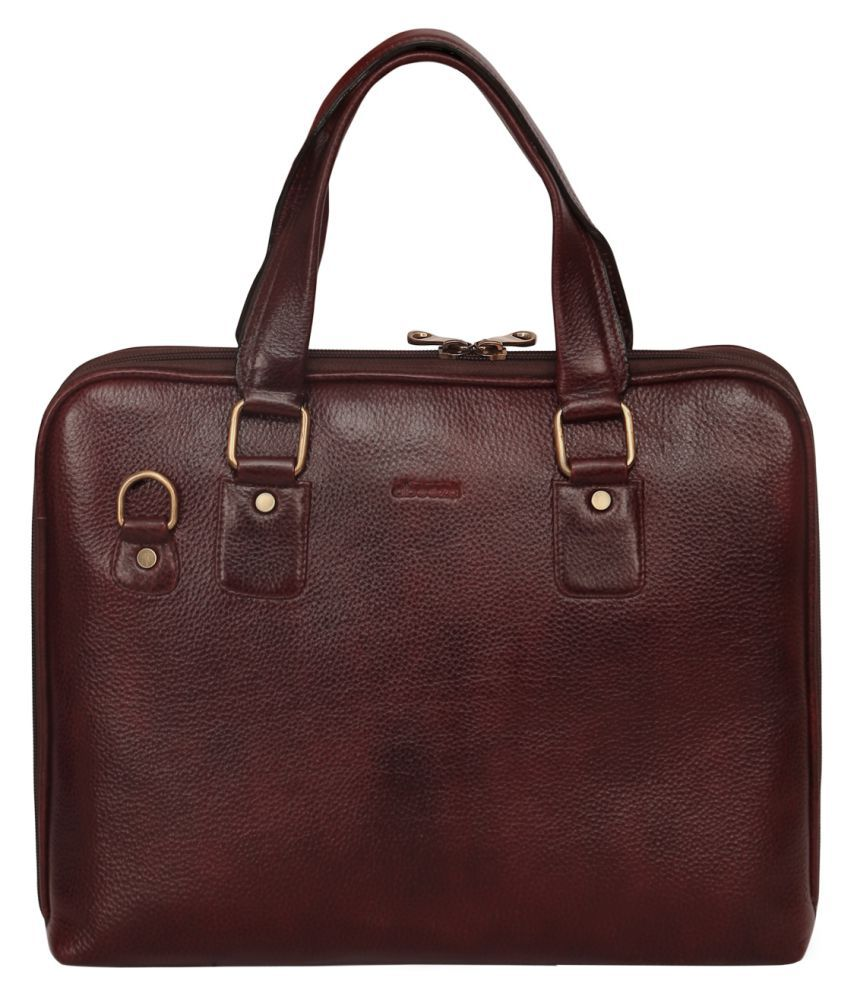 44a4ab7536 Abeeza Brown Pure Leather Handbags Accessories - Buy Abeeza Brown Pure  Leather Handbags Accessories Online at Best Prices in India on Snapdeal