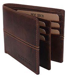 HIDE STITCH Leather Brown Formal Regular Wallet