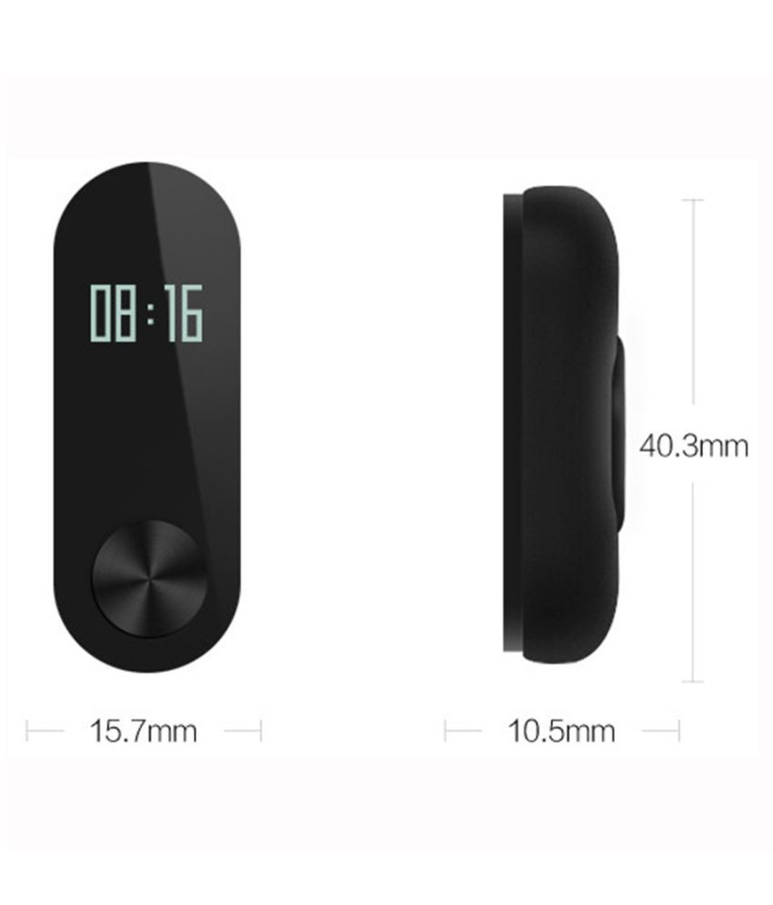 Fitness Band with OLED Display, Heart Rate Sensor & Bluetooth