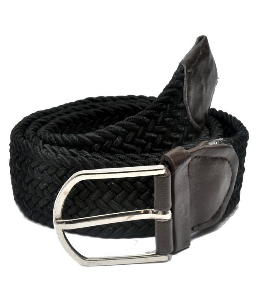 Arip Black Canvas Casual Belts