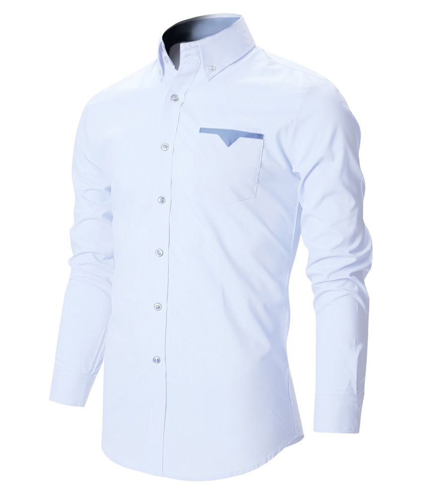 8bb9296d FINIVO FASHION White Casual Regular Fit Shirt - Buy FINIVO FASHION ...