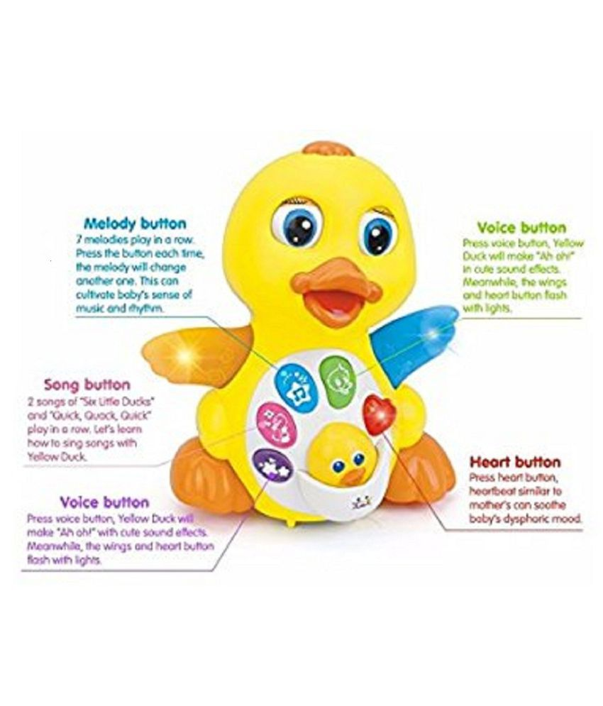 Kids toys Musical Duck toy Lights Action With Adjustable Sound ...
