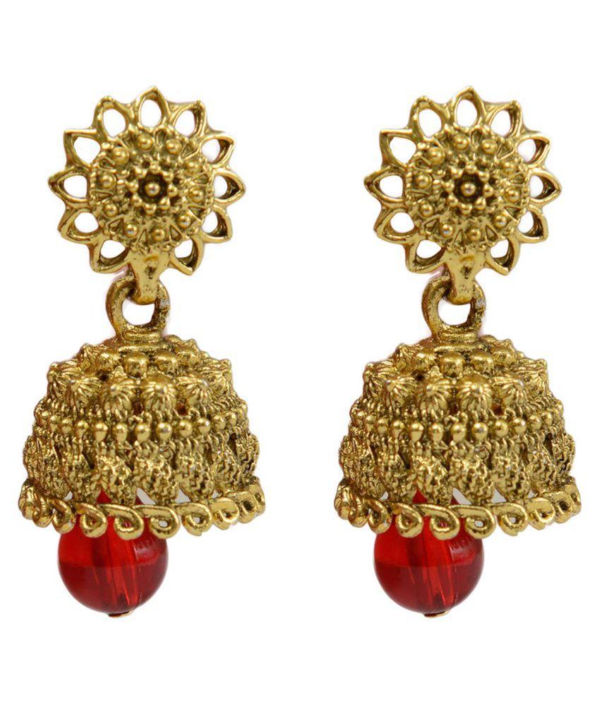 Taj Pearl Designer Jhumki Earring