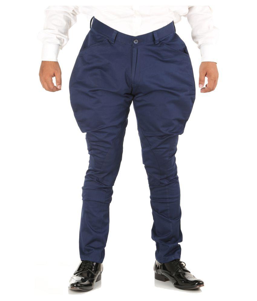 Breakthrough Blue Regular -Fit Flat Jodhpuri Pants