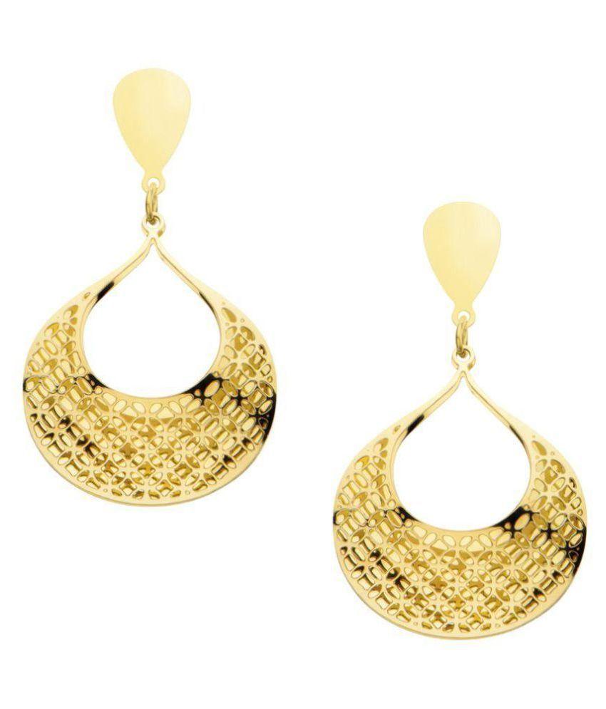 Inox Jewelry Golden Drop Earrings