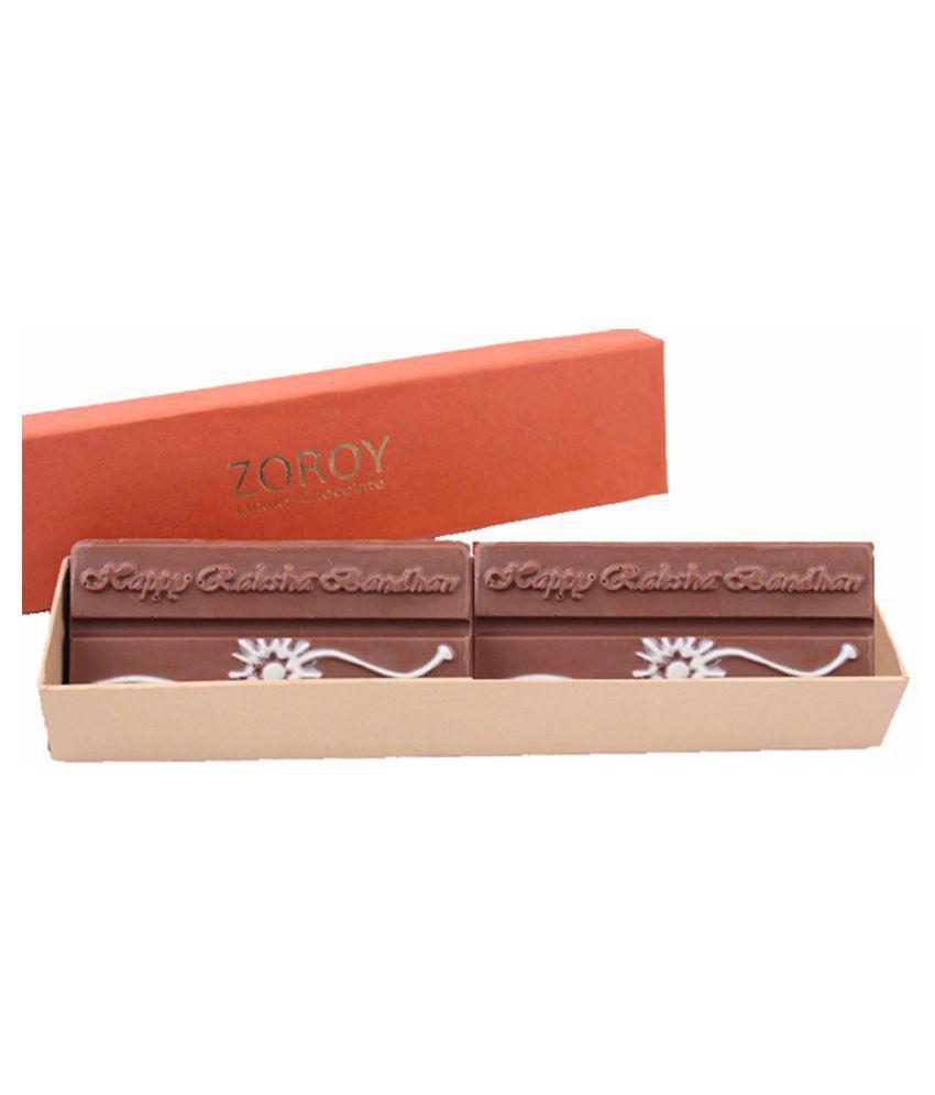 Zoroy Luxury Chocolate milk Chocolate Chocolate Box Rakhi and Rakshabandhan Gift 300 gm