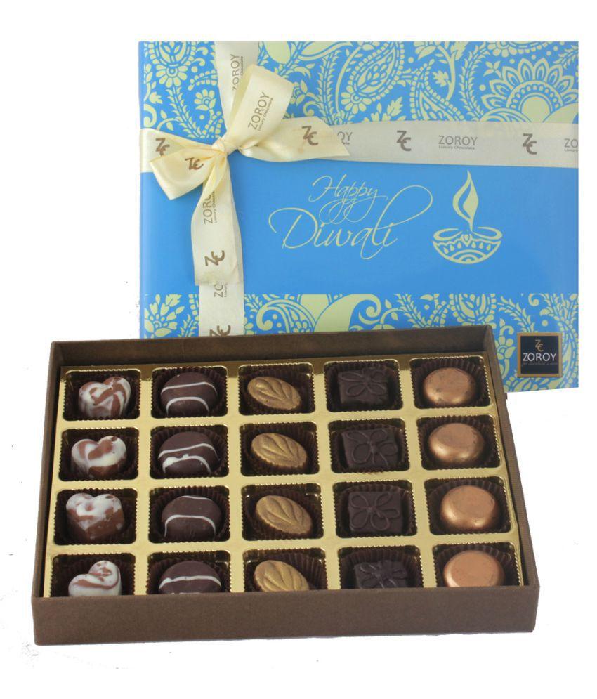 ZOROY LUXURY CHOCOLATE Assorted Chocolate Box Diwali 500 gm