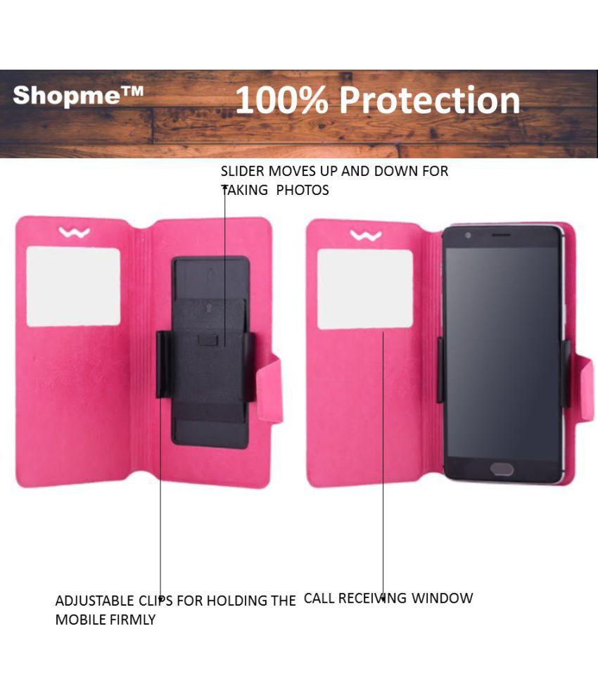 Karbonn Titanium S3 Flip Cover by Shopme - Pink