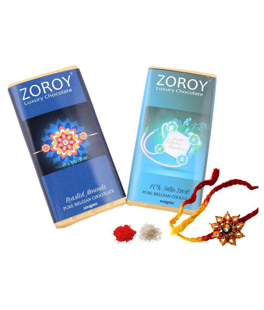 Zoroy Luxury Chocolate Assorted Chocolate Box Rakhi and Rakshabandhan Chocolate Gift 500 gm