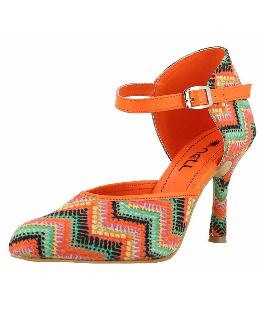 Nell Orange Stiletto Heels