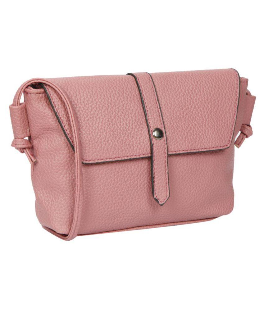 Bagkok Pink P.U. Sling Bag