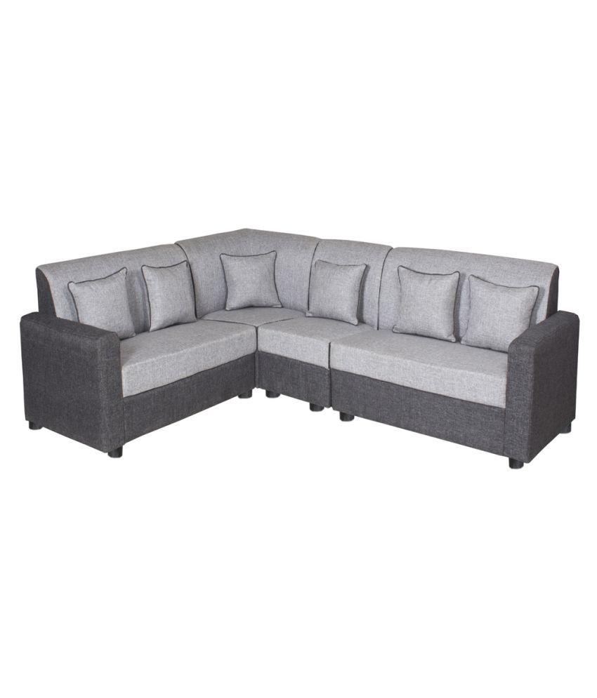 gioteak havana l shaped grey 2 2 1 corner sofa set buy gioteak rh snapdeal com