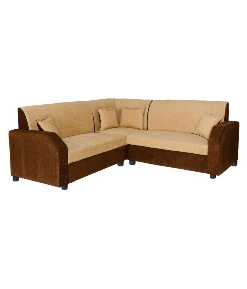 Gioteak Havana L shaped Cream Brown 2+2+Corner Sofa set ...