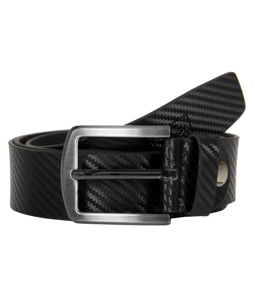 Milesroad Black Leather formal Belts