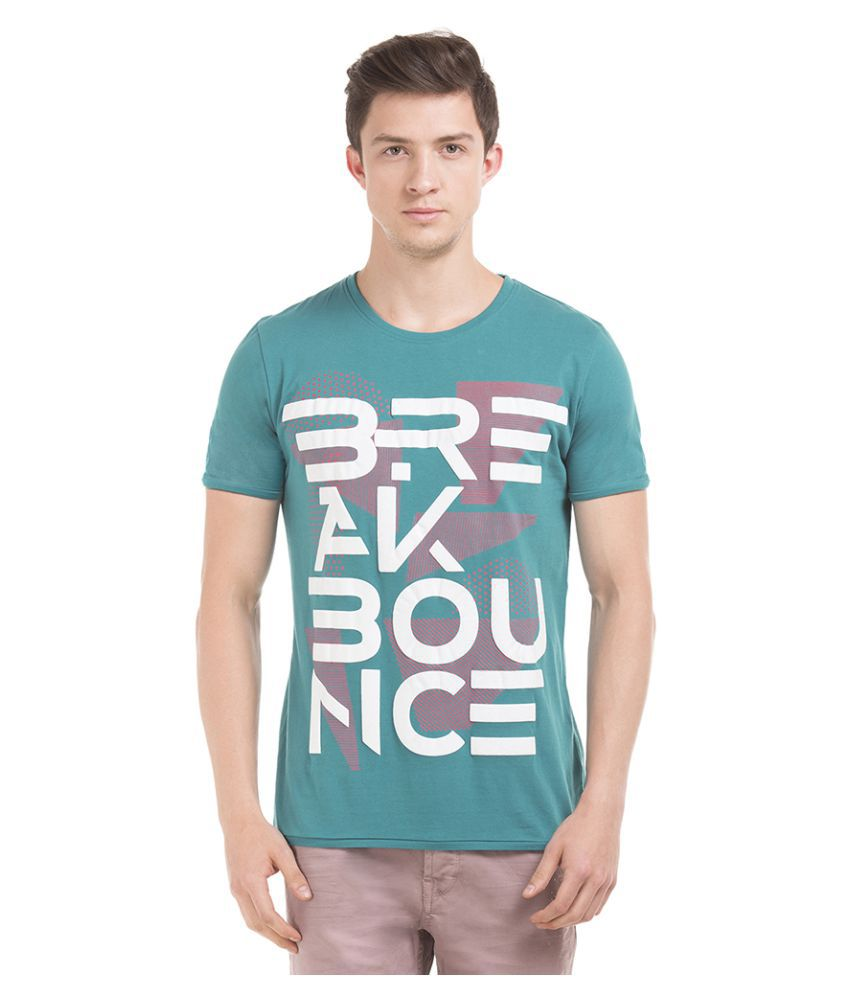 Breakbounce Green Round T-Shirt