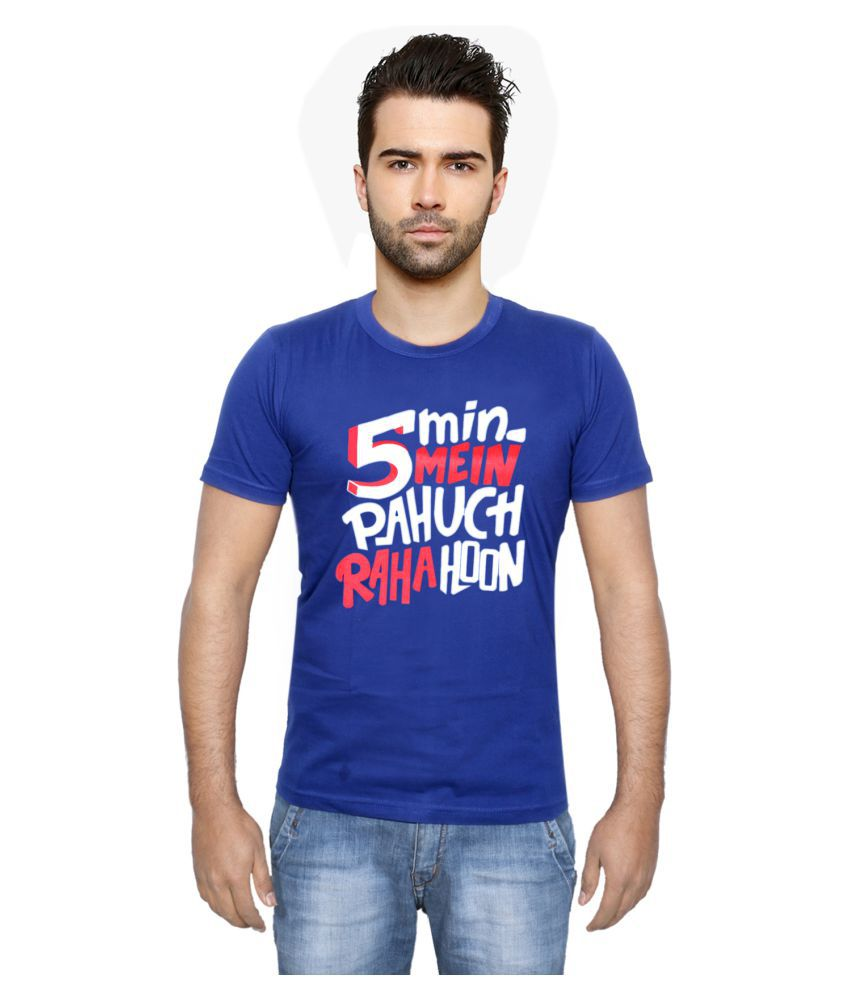 IndiWeaves Blue Round T-Shirt