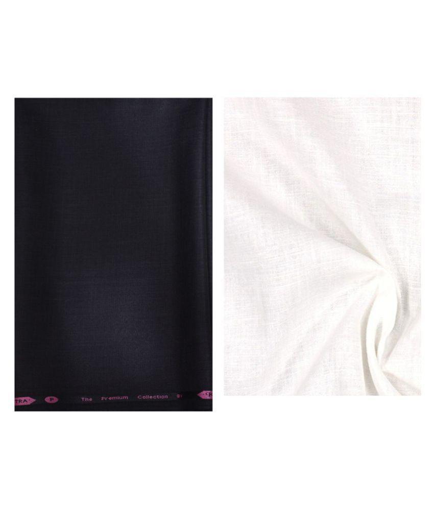KUNDAN SULZ GWALIOR Multi Cotton Blend Unstitched Shirts & Trousers