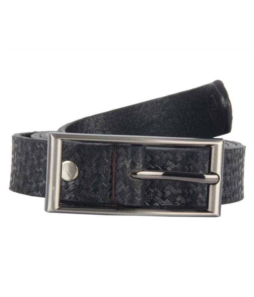 Bulls Hide Black Faux Leather Casual Belts