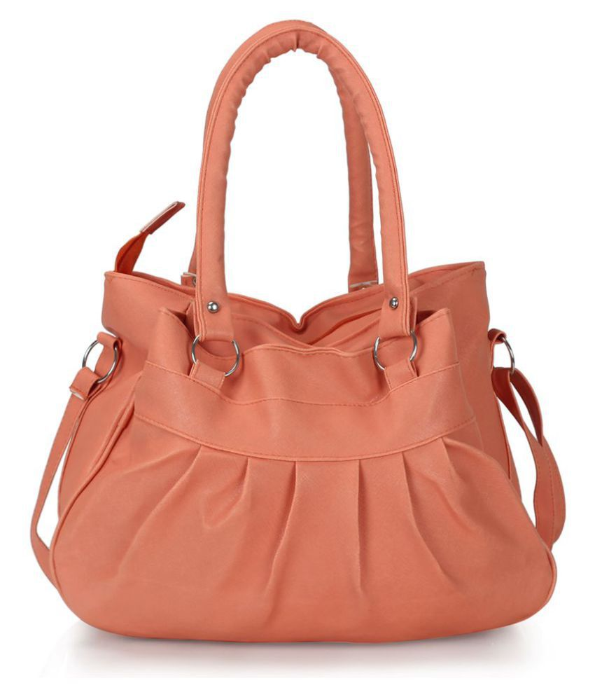 Cottage Accessories PeachPuff Faux Leather Handheld