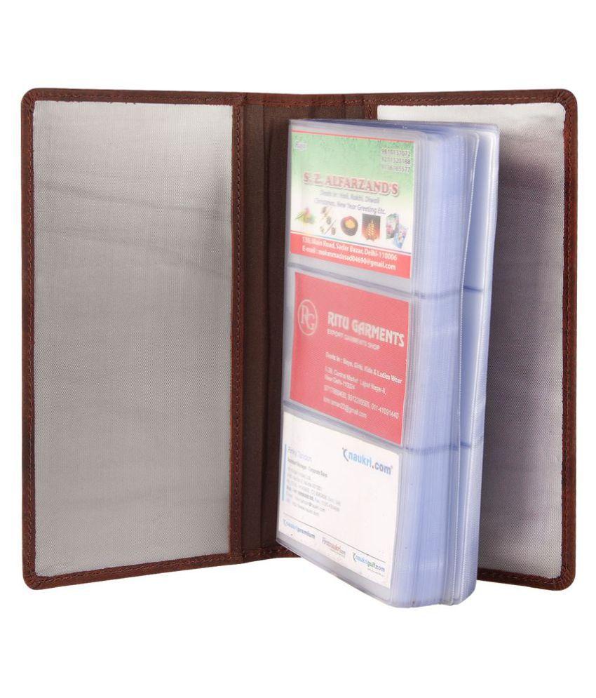 Genuine Leather Vintage Brown Business Cards Holder Book: Buy Online ...