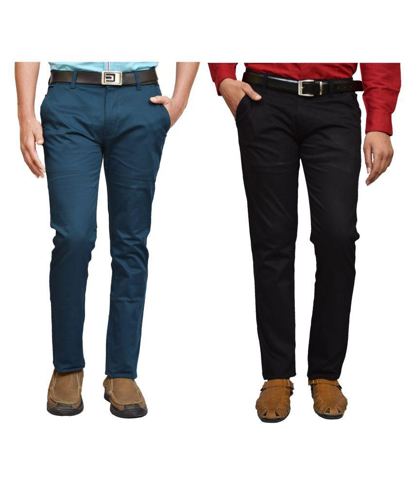 American Noti Multi Slim -Fit Flat Chinos