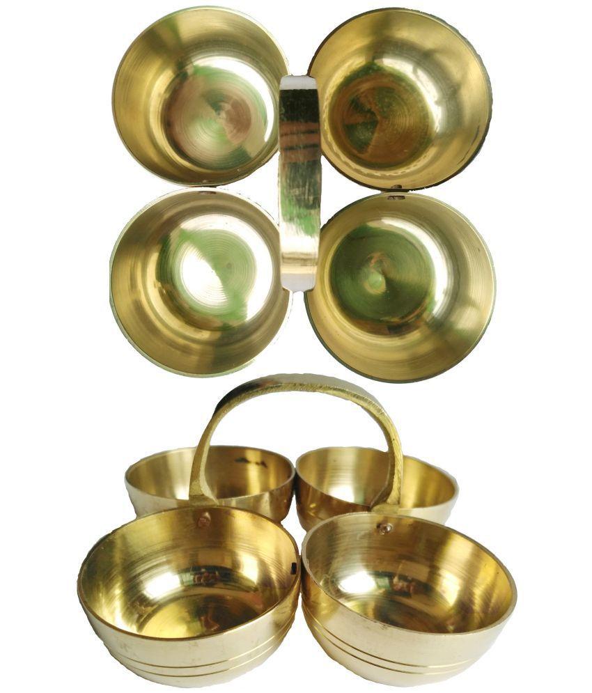 Shriram Traders Brass Kumkum Box