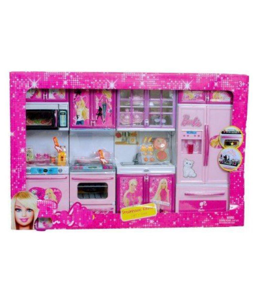 Maruti Barbie 4 Station Kitchen Set Toy For Kids With Light Sound