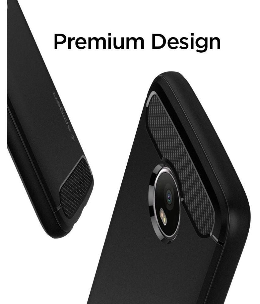 new product 938c6 d152b Spigen Moto G5 Plus Case Rugged Armor Black M09CS21502 - Plain Back ...