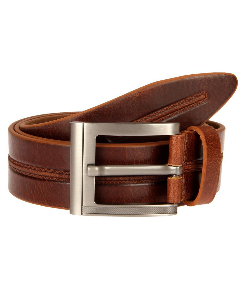 Milesroad Brown Leather casual Belts