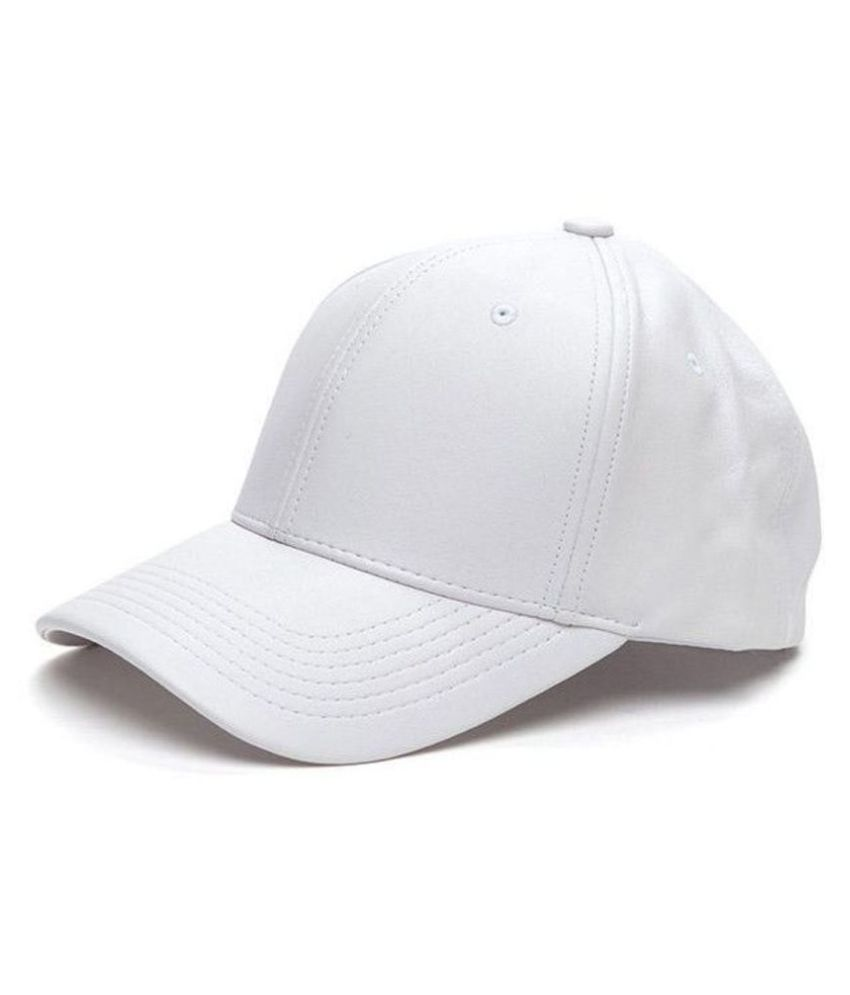 fd4dd5f7dafb20 HOZIE White Plain Polyester Caps - Buy Online @ Rs. | Snapdeal