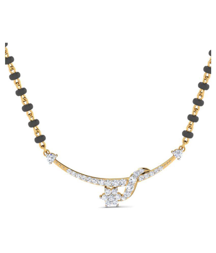 Dishis Designer Jewellery 18k Gold Diamond Mangalsutra