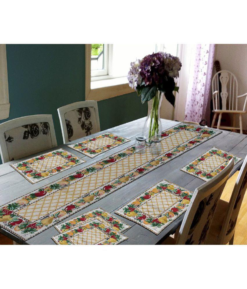 glamkart set of 7 cotton table mats buy glamkart set of 7 cotton rh snapdeal com