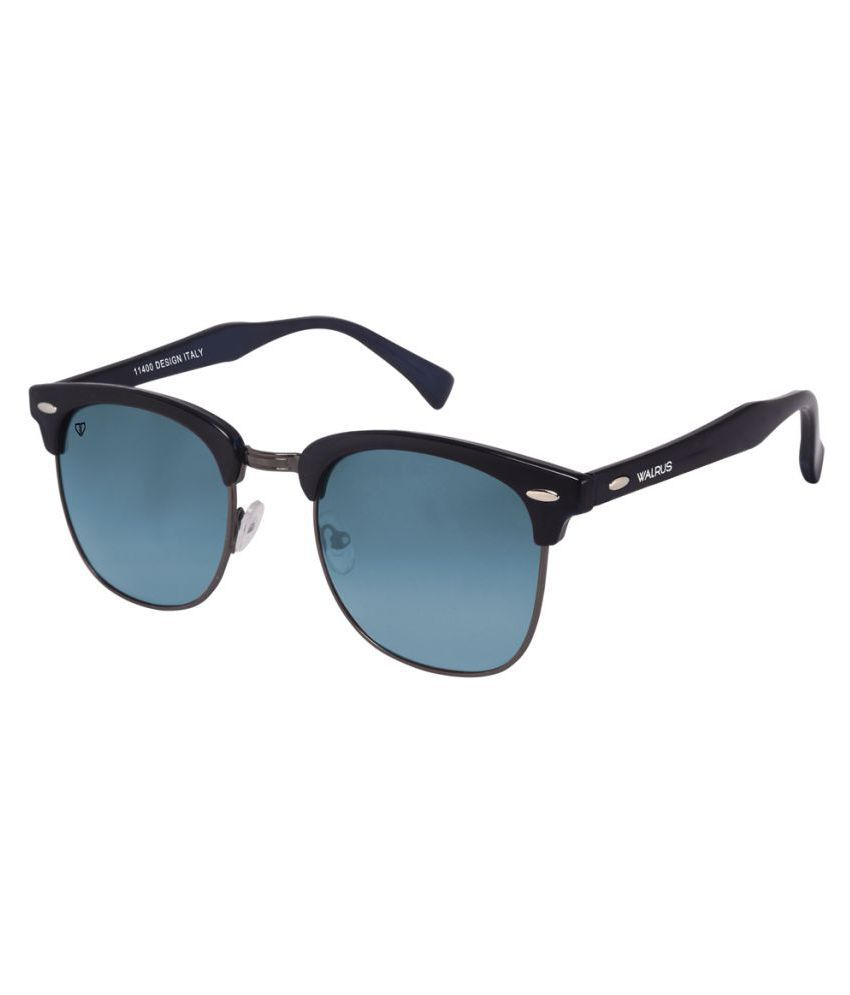 Walrus - Blue Clubmaster Sunglasses ( WS-MCHL-II-030202 )
