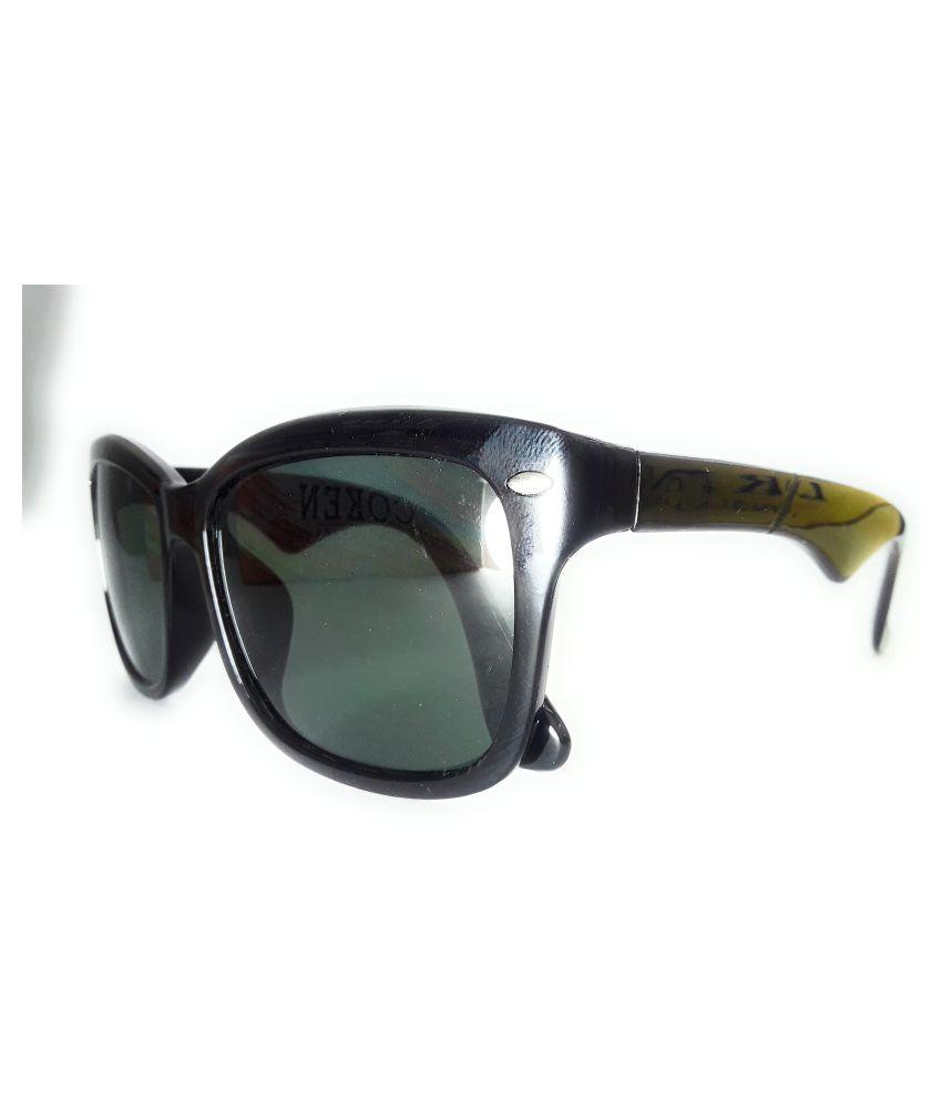 EnleyeT Green Square Sunglasses ( SKU02-C2-R1 )