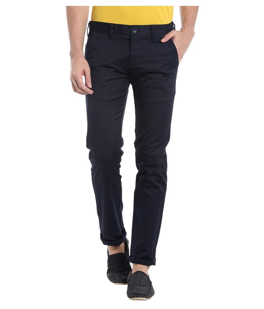 Killer Black Slim -Fit Flat Chinos