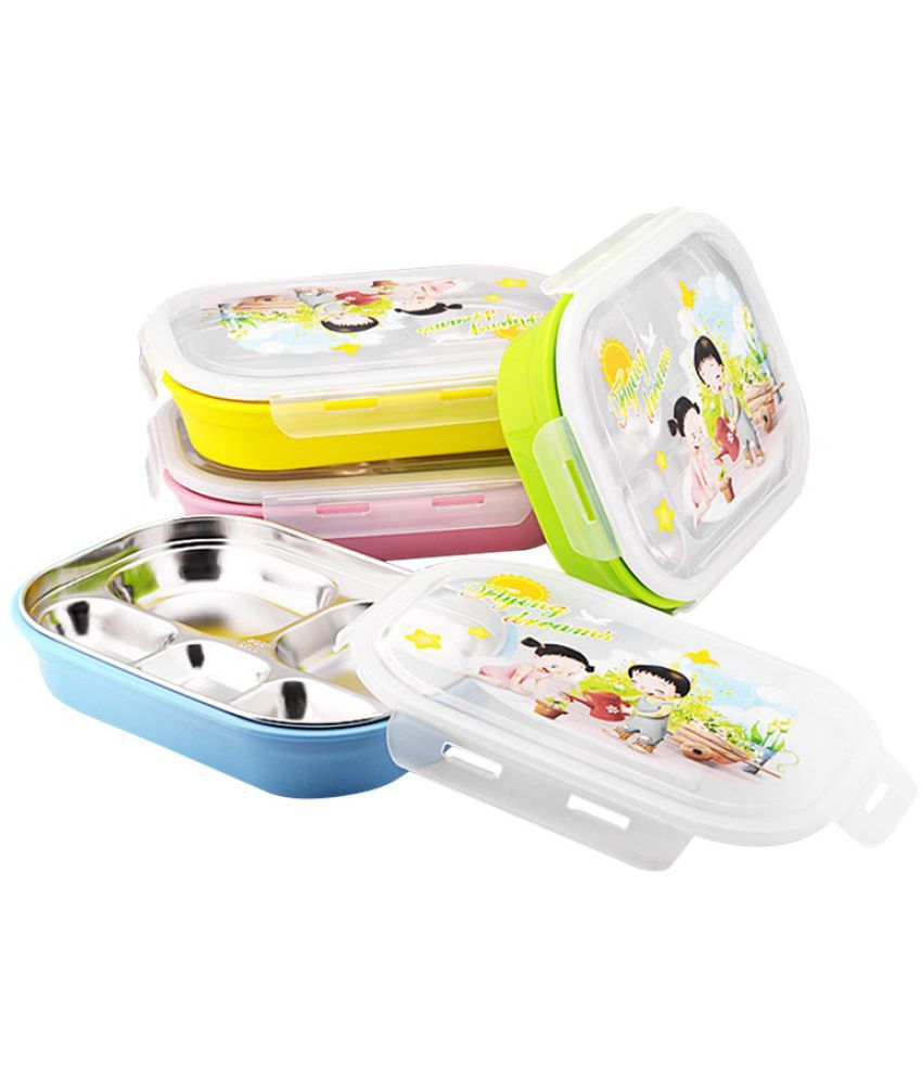 e4dd285b474 Cromoxome Steel Lunch Box  Buy Online at Best Price in India - Snapdeal