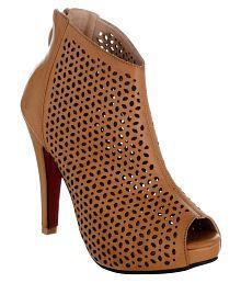 sherrif shoes Tan Stiletto Heels