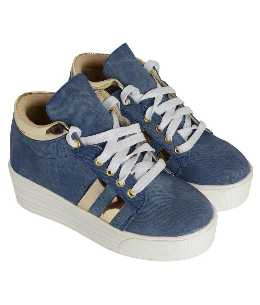 Q'BA Blue Casual Shoes
