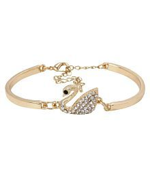 Jewels Gold Multi Comfy Non-Precious Duck Special Hot Bracelete For Women & Girls