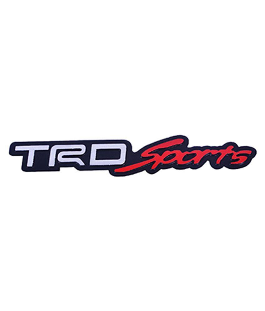 Ganesh Enterprises TRD Sports 3D Car Trunk Side Fender Rear Badge Logo Sticker