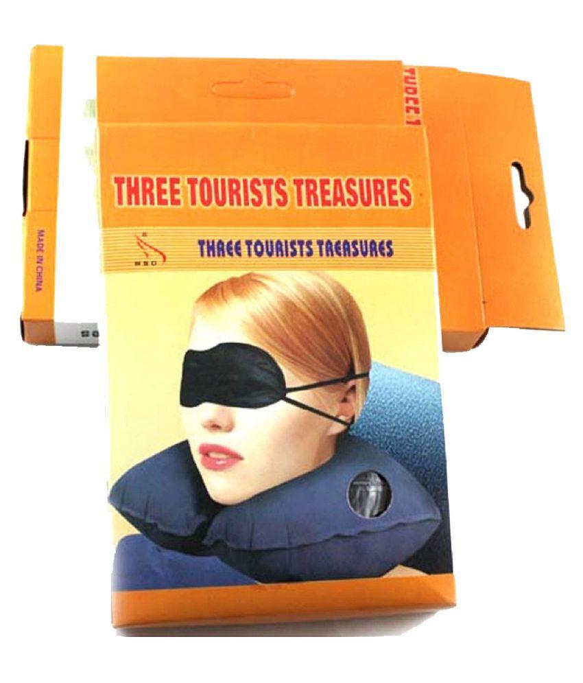 Ganesh Enterprises 3 in 1 Travel Three Tourists Treasures Neck Pillow Set