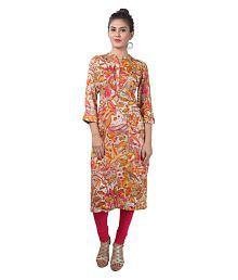 Cotton Culture Multicoloured Rayon Straight Kurti - 656187871321