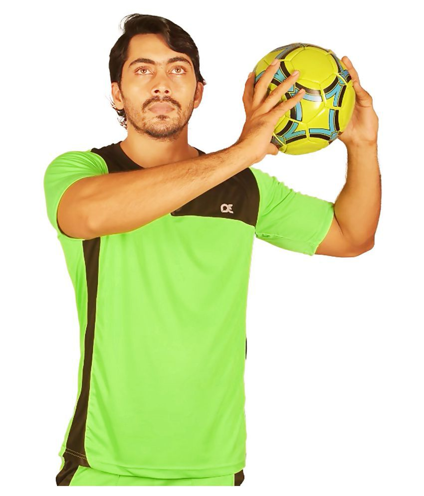 Dyed Colours Green Polyester T-Shirt Single Pack