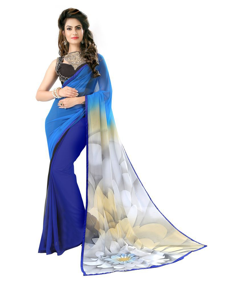 Fashion and Hub Multicoloured Georgette Saree